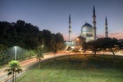 Ανατολή στο μουσουλμανικό τέμενος θαμπάδων, Selangor Στοκ φωτογραφία με δικαίωμα ελεύθερης χρήσης