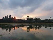 Ανατολή στο ναό angkor wat Στοκ Εικόνες