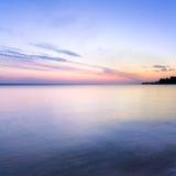 Ανατολή στο νερό Στοκ Εικόνα