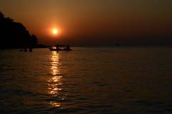 Ανατολή στο νησί Ταϊλάνδη Samed Στοκ εικόνα με δικαίωμα ελεύθερης χρήσης
