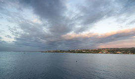 Ανατολή στο νησί του Τομπάγκο - καραϊβική θάλασσα Στοκ Φωτογραφίες