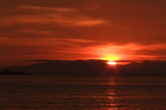 Ανατολή στο νησί Lipe Στοκ Εικόνα