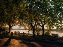 Ανατολή στο πάρκο Στοκ Φωτογραφία