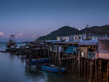 Ανατολή στο ψαροχώρι Tai Ο - 1 στοκ εικόνες