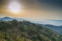 Ανατολή στο Annapurnas Στοκ φωτογραφία με δικαίωμα ελεύθερης χρήσης