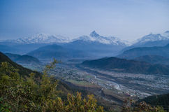 Ανατολή στο Annapurnas Στοκ Φωτογραφία