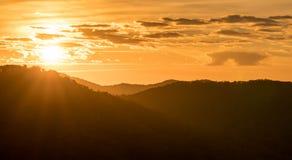 Ανατολή στο Appalachians της δυτικής βόρειας Καρολίνας Στοκ Εικόνες