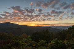 Ανατολή στο Appalachians της δυτικής βόρειας Καρολίνας Στοκ Εικόνα