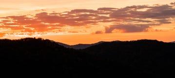Ανατολή στο Appalachians της δυτικής βόρειας Καρολίνας Στοκ Φωτογραφία
