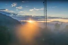 Ανατολή στο Sikkim, Ινδία Στοκ Φωτογραφία