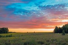 ανατολή σύννεφων Στοκ Εικόνες