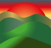 ανατολή της Ρωσίας πεδίων altai Στοκ εικόνα με δικαίωμα ελεύθερης χρήσης