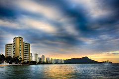 Ανατολή της Χονολουλού στοκ εικόνα με δικαίωμα ελεύθερης χρήσης