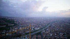 Ανατολή του πρωινού πόλεων Ιστανμπούλ - Timelapse απόθεμα βίντεο