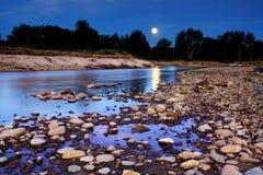 Ανατολή του φεγγαριού πέρα από Yarramundi Αυστραλία Στοκ Φωτογραφία