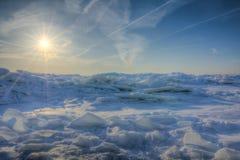 Ανατολή του Erie χειμερινών λιμνών Στοκ Εικόνες