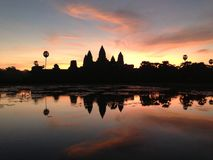 Ανατολή Angkor Wat Καμπότζη Στοκ Εικόνες