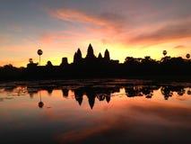 Ανατολή Angkor Wat, Καμπότζη Στοκ Εικόνα