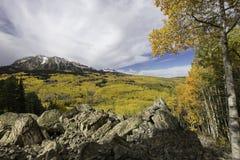 Ανατολή Beckwith και βουνό δυτικού Beckwith το φθινόπωρο Στοκ Φωτογραφίες