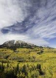 Ανατολή Beckwith και βουνό δυτικού Beckwtih το φθινόπωρο Στοκ Φωτογραφίες