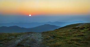 Ανατολή Carpathians Στοκ φωτογραφίες με δικαίωμα ελεύθερης χρήσης