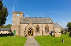 Ανατολή Devon Αγγλία UK λόφων Hemyock Blackdown εκκλησιών του ST Marys Στοκ φωτογραφία με δικαίωμα ελεύθερης χρήσης