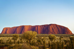 Ανατολή Uluru, εσωτερικός Αυστραλία Στοκ εικόνες με δικαίωμα ελεύθερης χρήσης