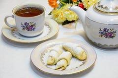 Ανατολικά γλυκά & τσάι Στοκ Εικόνες