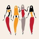 Ανατολικές γυναίκες καλυμμένος ελεύθερη απεικόνιση δικαιώματος