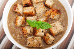 ανατολική μέση σούπα φακών τροφίμων λιβανέζικη Στοκ Φωτογραφία