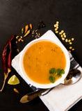 ανατολική μέση σούπα φακών τροφίμων λιβανέζικη Στοκ Εικόνα