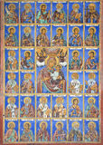 Ανατολική ορθόδοξη θρησκευτική ζωγραφική, εικονίδιο στο βουλγαρικό μοναστήρι Rila, ανατολικό ορθόδοξο μοναστήρι, ΟΥΝΕΣΚΟ, βουνά R Στοκ φωτογραφία με δικαίωμα ελεύθερης χρήσης