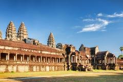 Ανατολική πρόσοψη του αρχαίου ναού σύνθετο Angkor Wat, Καμπότζη Στοκ Εικόνες