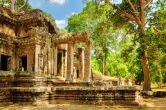 Ανατολική πύλη εισόδων TA Kou σε Angkor Wat η Καμπότζη συγκεντρώνει siem Στοκ Φωτογραφίες