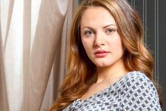 Ανατολικο-ευρωπαϊκή θηλυκή ομορφιά Στοκ εικόνα με δικαίωμα ελεύθερης χρήσης