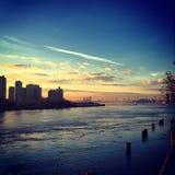 Ανατολικός ποταμός καλημέρας στοκ εικόνες