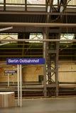 Ανατολικός σιδηροδρομικός σταθμός του Βερολίνου Στοκ εικόνες με δικαίωμα ελεύθερης χρήσης