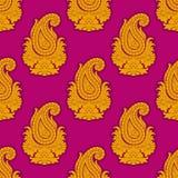 ανατολικό άνευ ραφής ύφος προτύπων Διακόσμηση του Paisley Στοκ Εικόνα