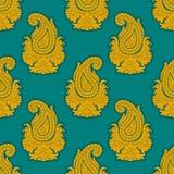 ανατολικό άνευ ραφής ύφος προτύπων Διακόσμηση του Paisley Στοκ εικόνες με δικαίωμα ελεύθερης χρήσης