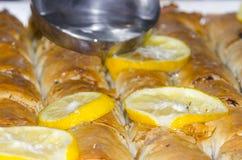 Ανατολικό γλυκό επιδόρπιο Baklava Στοκ Εικόνες