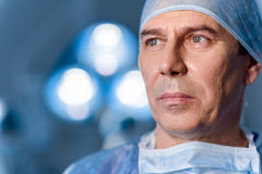 Ανατρέψτε το ιατρικό πρόσωπο στο λειτουργούν θέατρο Στοκ Φωτογραφία