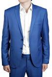 Ανατρεμμένος γαμπρός φορεμάτων ατόμων δύο-κουμπιών ή prom, ανοικτό μπλε χρώμα Στοκ Εικόνες