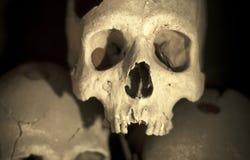 Ανατριχιαστικά ανθρώπινα κρανία, Νάπολη, Ιταλία Στοκ φωτογραφίες με δικαίωμα ελεύθερης χρήσης