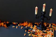 Ανατριχιαστικά κηροπήγια Στοκ εικόνα με δικαίωμα ελεύθερης χρήσης