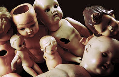 Ανατριχιαστικές κούκλες Στοκ Φωτογραφία