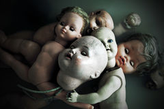 Ανατριχιαστικές κούκλες Στοκ εικόνες με δικαίωμα ελεύθερης χρήσης