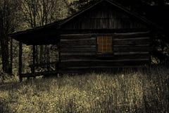 Ανατριχιαστική καμπίνα στα ξύλα Στοκ Εικόνα