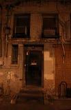 Ανατριχιαστική πόρτα καμία καταπάτηση Στοκ Εικόνες