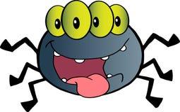 ανατριχιαστική eyed αράχνη τέσ&sigm διανυσματική απεικόνιση