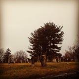 Ανατριχιαστικό νεκροταφείο στοκ εικόνα με δικαίωμα ελεύθερης χρήσης
